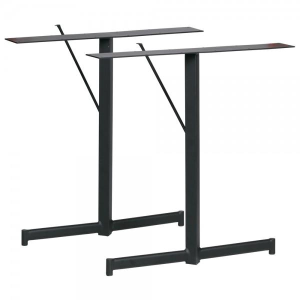 vtwonen 2er Set Tischbeine Base T-Form Metall schwarz