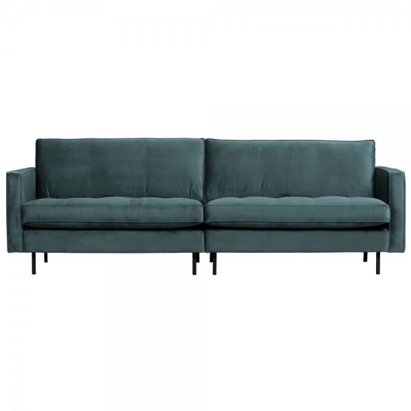 3 Sitzer Sofa Rodeo Samt Velvet blaugrün Couch Garnitur Couchgarnitur