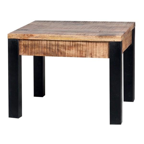 Industrial Beistelltisch 60 x 60 cm Holz Metall Kaffeetisch Anstelltisch Tisch