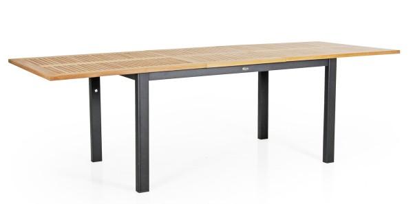 Teak Gartentisch ausziehbar LYON 195 / 250 cm schwarz