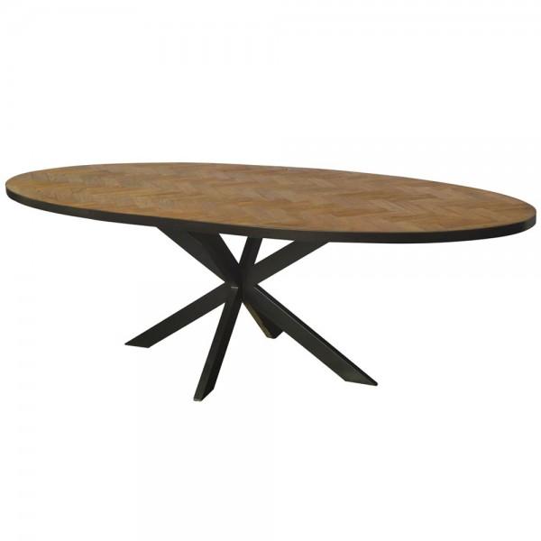 Esstisch Accent 210 x 100 cm oval Teakholz Dinnertisch Tisch Esszimmertisch