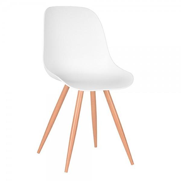 Schalenstuhl Rimini weiß Esstisch Stuhl Esszimmerstuhl Esszimmer Dinnerstuhl Stühle