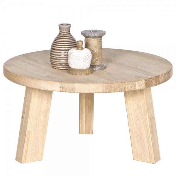 Beistelltisch RHONDA Ø 60 cm Anstelltisch Couchtisch Tisch Sofatisch Eiche natur