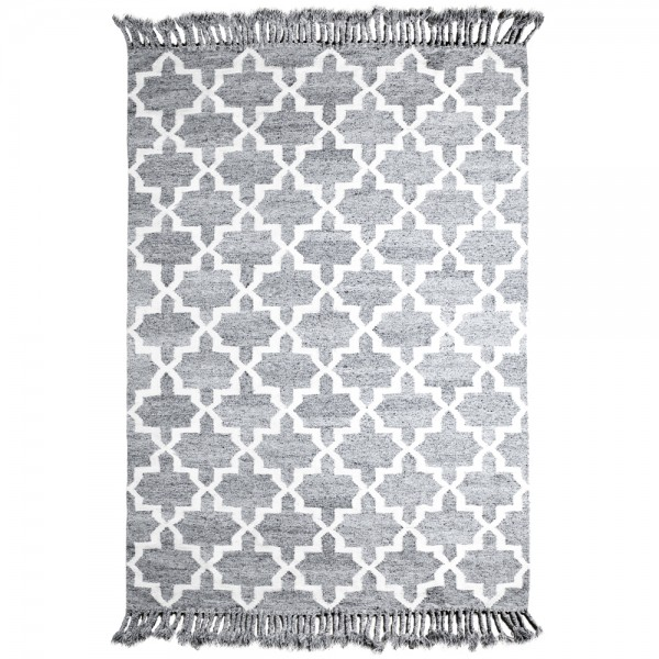Teppich PEARL 170 x 240 cm grau Schafwolle