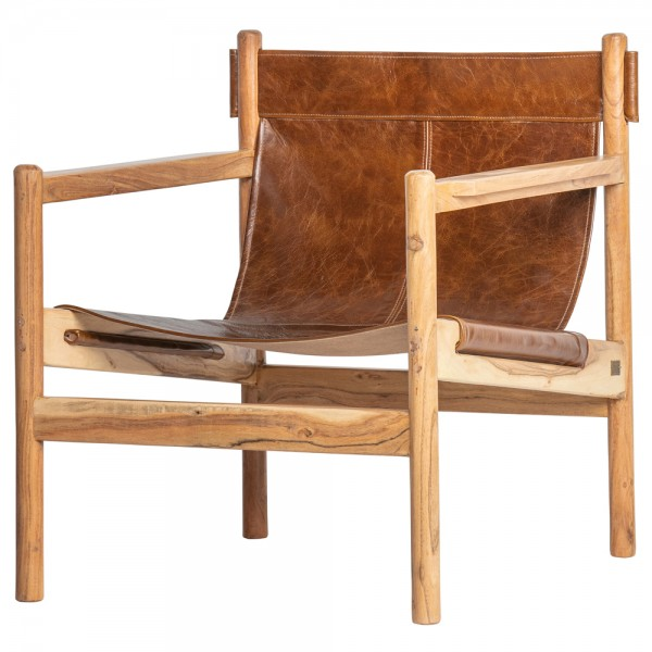 Leder Armlehnsessel Chill Wasserbüffelleder braun Sessel Ledersessel