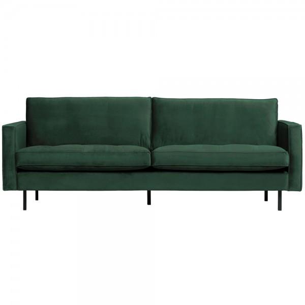2,5 Sitzer Sofa Rodeo Classic Samt waldgrün Couch Loungesofa Couchgarnitur