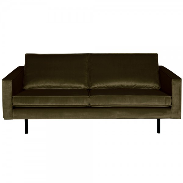 2,5 Sitzer Sofa Rodeo Samt dunkelgrün Couch Garnitur Samtsofa Couchgarnitur