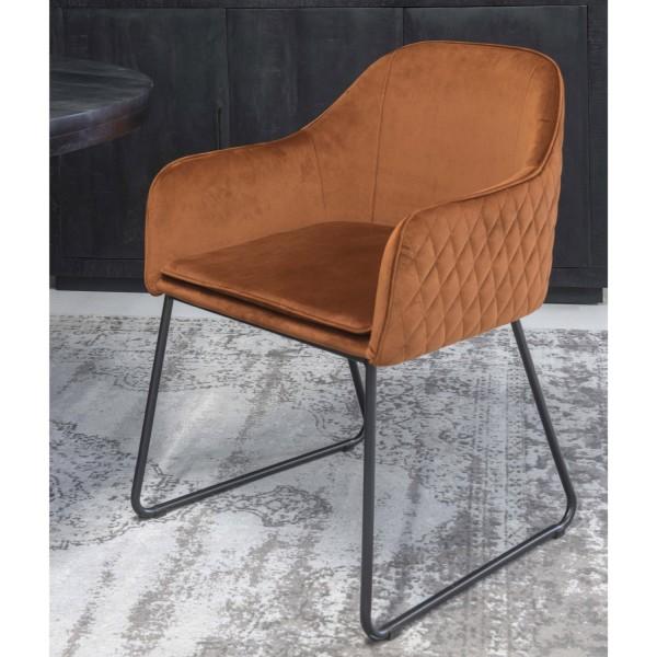 Esszimmerstuhl Benthe Stuhl mit Armlehnen rost kupfer