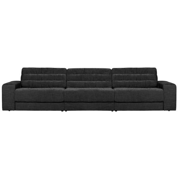 BePureHome 3 Sitzer Sofa Date 316 cm vintage Samt anthrazit Couch