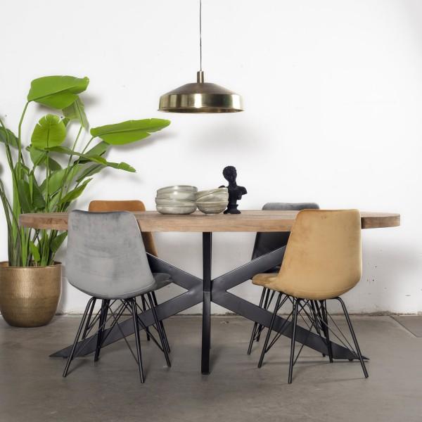 Esstisch Mansour oval 200 x 100 cm Mango Holz