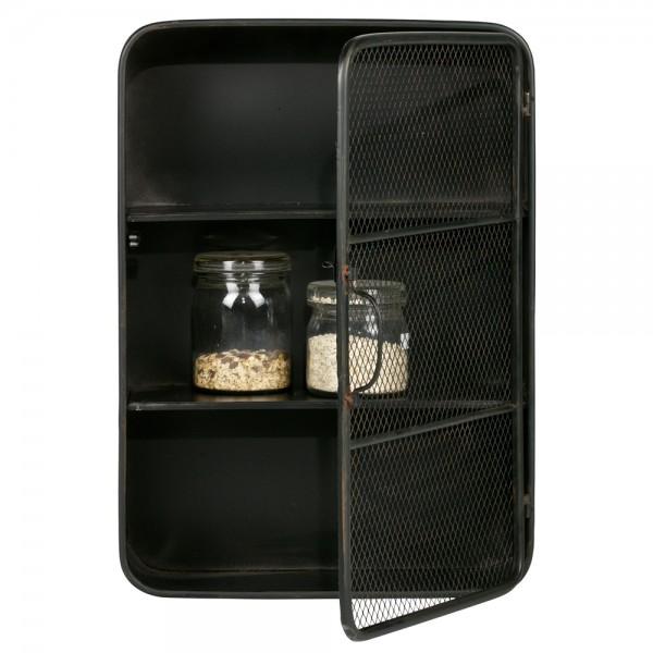 h ngeschrank wandregal nova metall schwarz ablageregal. Black Bedroom Furniture Sets. Home Design Ideas