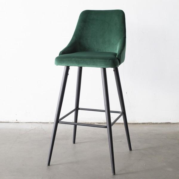 GIGA Barhocker Amber Samt grün Sitzhöhe 66 cm