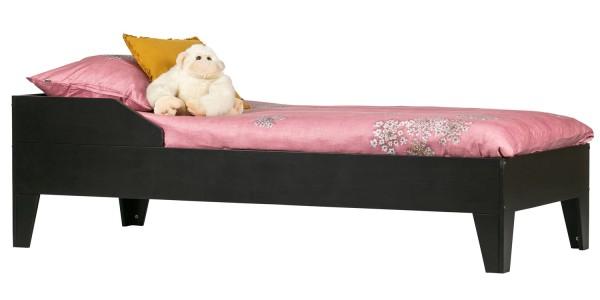 woood Bett Jugendbett Dian 200 x 90 cm Kiefer schwarz