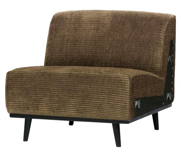 BePureHome Erweiterungselement 79 cm für 4 Sitzer Sofa Statement Rib Cord rock