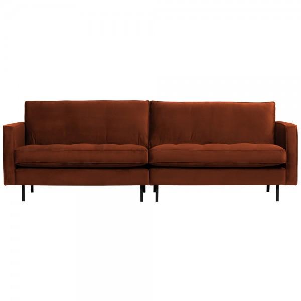 3 Sitzer Sofa Rodeo Samt Velvet rostfarben Couch Garnitur Couchgarnitur