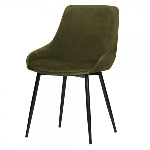 2er Set Esstischstuhl Selin Samt grasgrün Stuhl