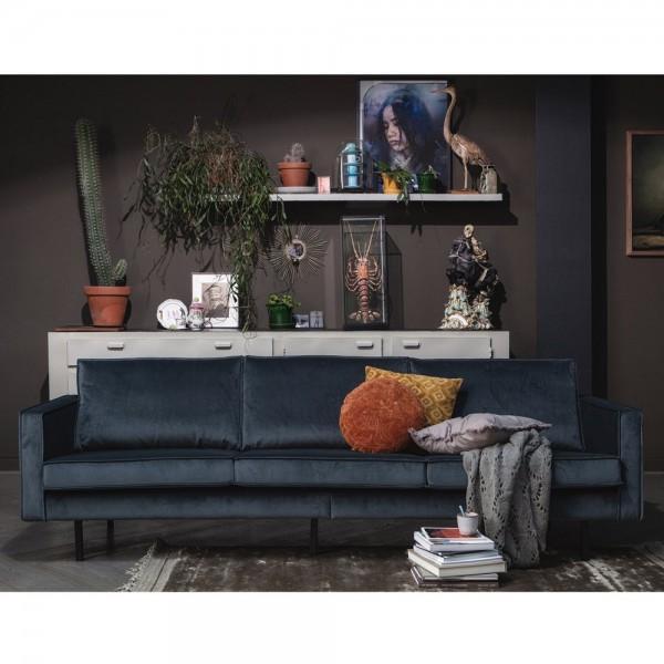 3 Sitzer Sofa Rodeo Samt blaugrün Couch Garnitur Samtsofa Couchgarnitur