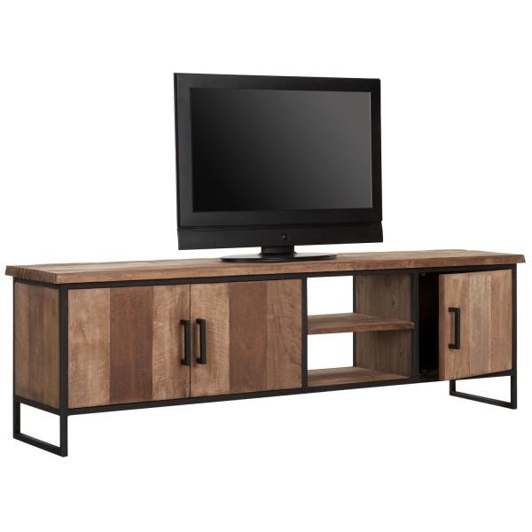 DTP HOME TV-Board 180 cm BEAM No 2 Teak Holz Metall Konsole TV-Rack TV-Möbel