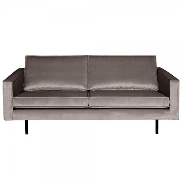2,5 Sitzer Sofa Rodeo Samt taupe Couch Garnitur Samtsofa Couchgarnitur