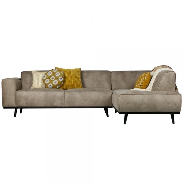 Eckgarnitur Statement Elefantenhaut grau Couch Sofa Ecksofa Eckcouch Longchair Rechts
