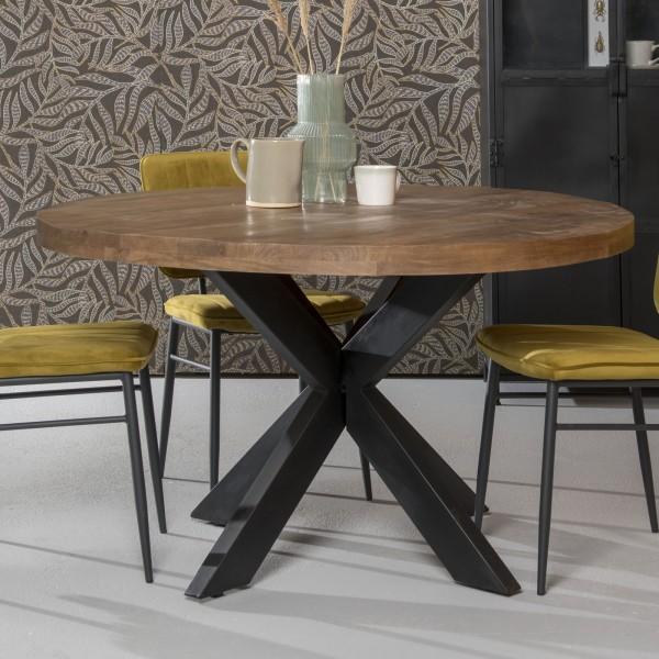 Esstisch Sturdy Ø 130 cm rund Mangoholz Dinnertisch Tisch Esszimmertisch
