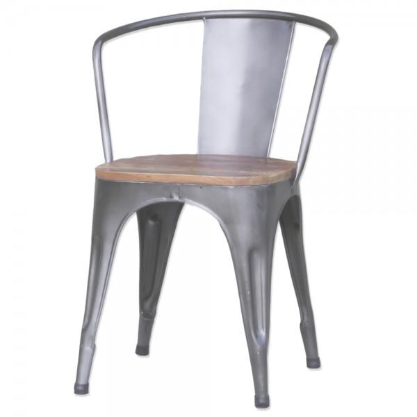Design Stapelstuhl ARM metall Metall Küche Stuhl Konferenzstuhl Esszimmerstuhl
