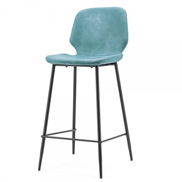 BY-BOO 2´er Set Barstuhl Seashell vintage blau SH 65 cm