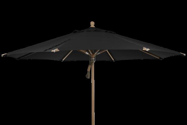 Holz Sonnenschirm Parma Ø 350 cm schwarz