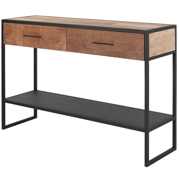MUST Living Konsolentisch Elemental 120 cm Teak Holz Metall Konsole