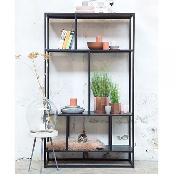 Industrie Design Regal URBAN offen Metall Vintage schwarz ...