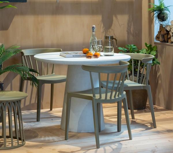 woood 2er Set Gartenstuhl Kunststoff Stapelstuhl BLISS grün Stuhl stapelbar