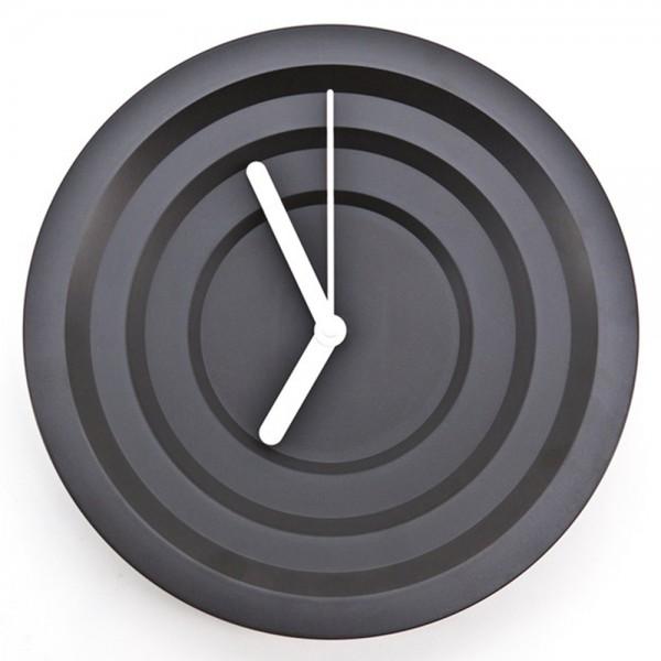 Wanduhr HYPNO rund Ø 30 cm Kunststoff black Wanduhr Clock Uhr batteriebetrieben
