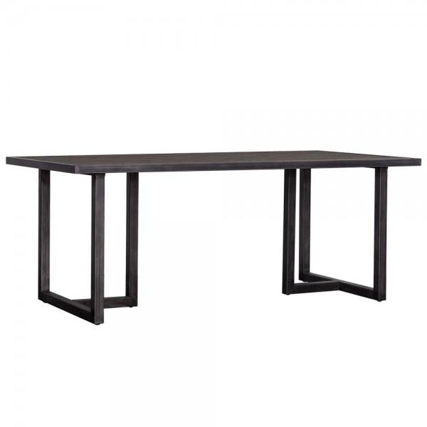 Esstisch Hudson Akazie Massivholz schwarz Metall Dinnertisch Tisch Esszimmertisch