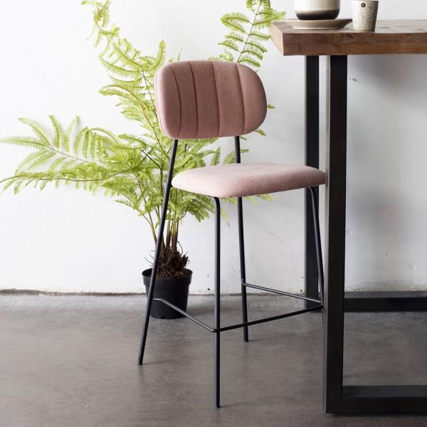 Barhocker JIN rosa Metall Hocker Barstuhl Küchenhocker Stuhl