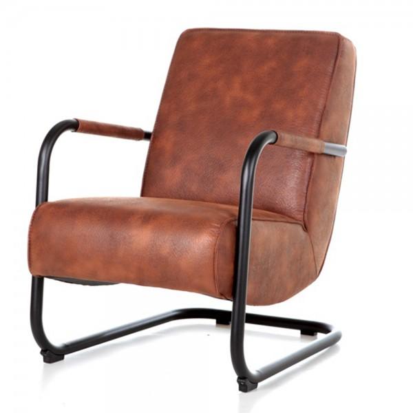 Armlehnensessel PIEN Vintage cognac Relaxsessel Fernsehsessel Lounge Sessel