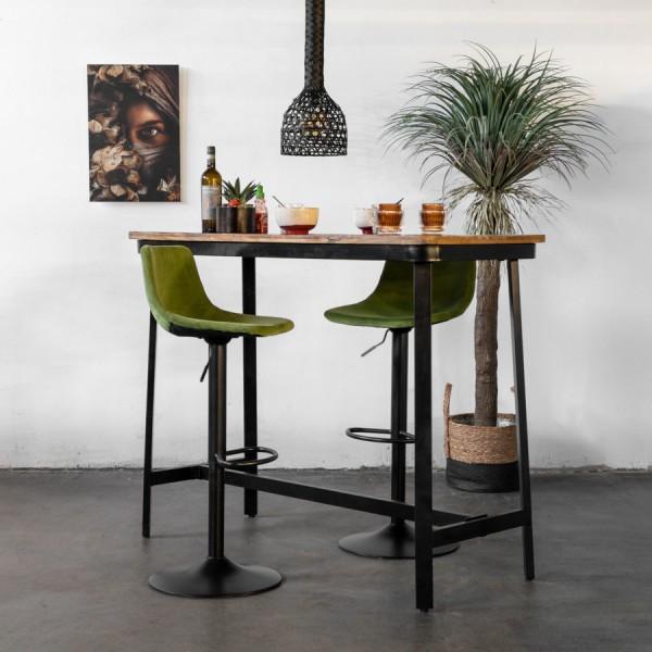 Industrie Bartisch MAX 140 x 60 cm Holz Metall Stehtisch