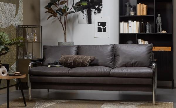 woood 2 Sitzer Sofa Tube warmgrau grau Couch