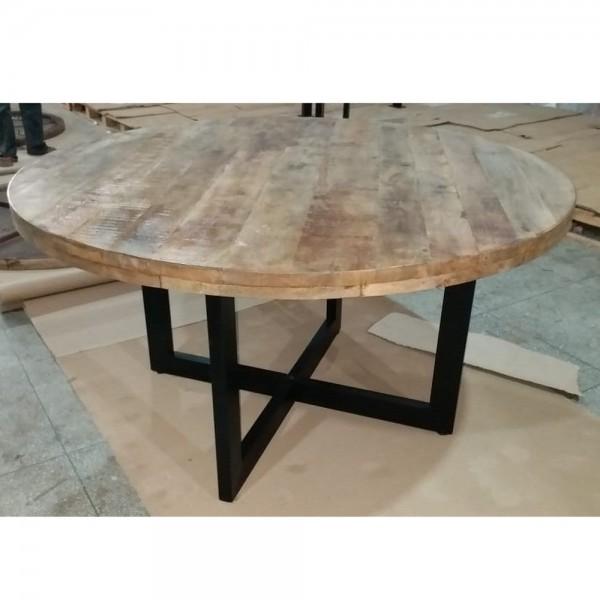 Esstisch Strong Ø 140 cm rund Holztisch Dinnertisch Tisch Esszimmertisch