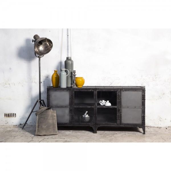 Industrie Metall TV Möbel 152 cm Lowboard Sideboard Kommode