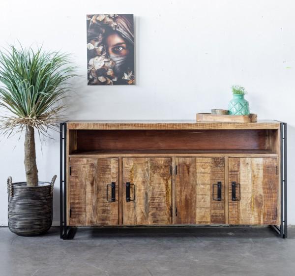 Industrie Sideboard KENADA Akazie Holz 177 cm