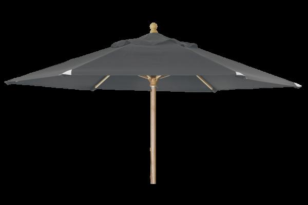 Holz Sonnenschirm Reggio rund Ø 300 cm grau