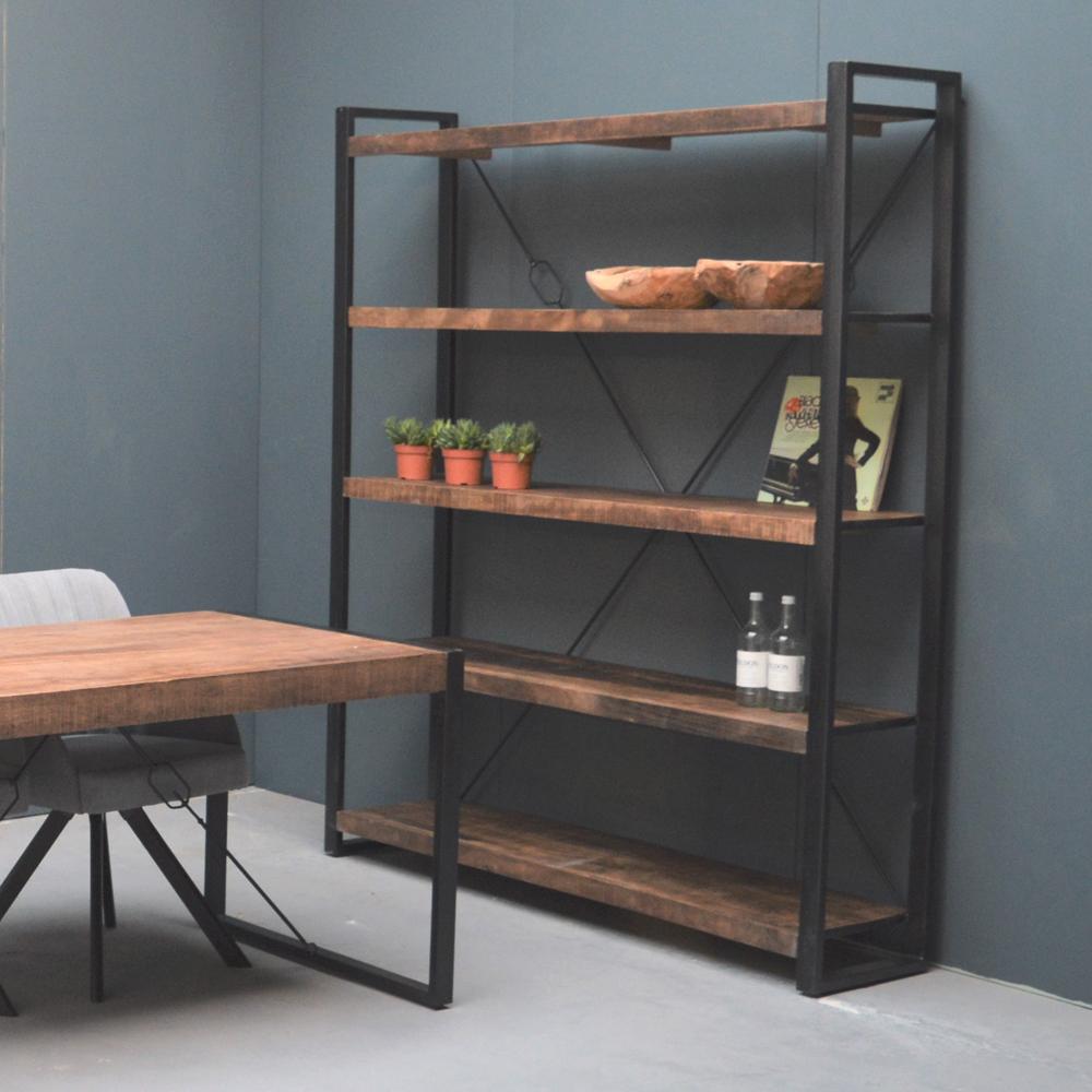 industrie regal strong ablageregal aufbewahrung b cherregal metall schwarz new maison esto. Black Bedroom Furniture Sets. Home Design Ideas