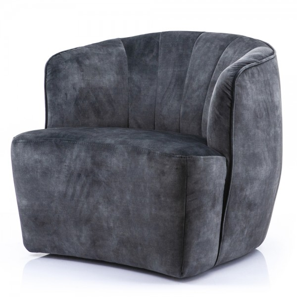 Lounge Chair Michelle Samt anthrazit Sessel