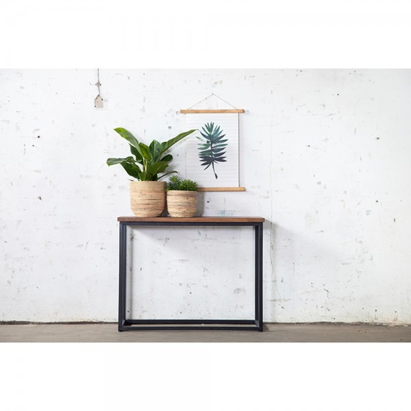 Industrie Konsole Konsolentisch 100 cm WILLEM Holz Metall Sideboard