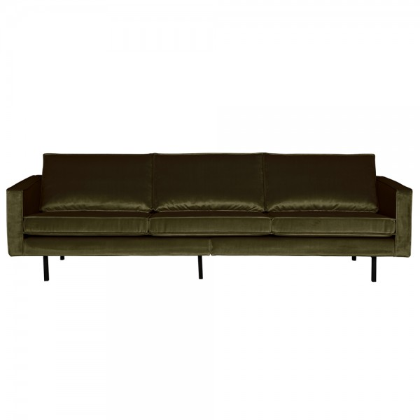 3 Sitzer Sofa Rodeo Samt dunkelgrün Couch Garnitur Samtsofa Couchgarnitur