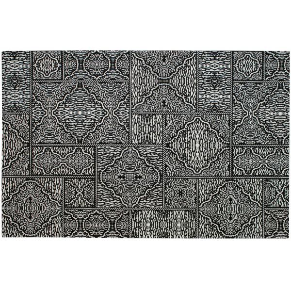 woood Teppich Renna schwarz weiß 200 x 300 cm