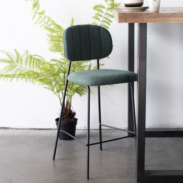 Barhocker JIN grün Metall Hocker Barstuhl Küchenhocker Stuhl