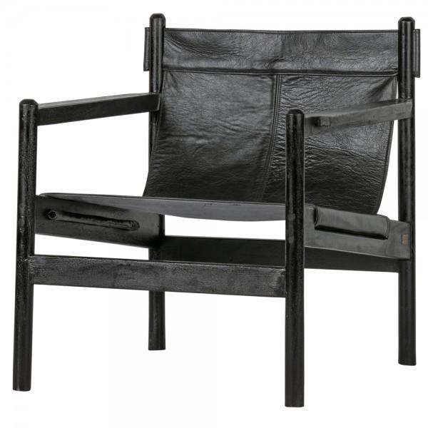Leder Armlehnsessel Chill Wasserbüffelleder schwarz Sessel Ledersessel