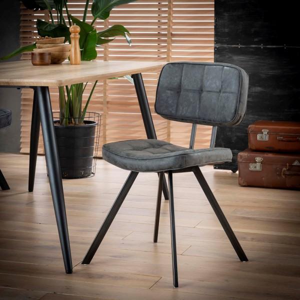 4er Set Stuhl Kreuzstich Manolo schwarz