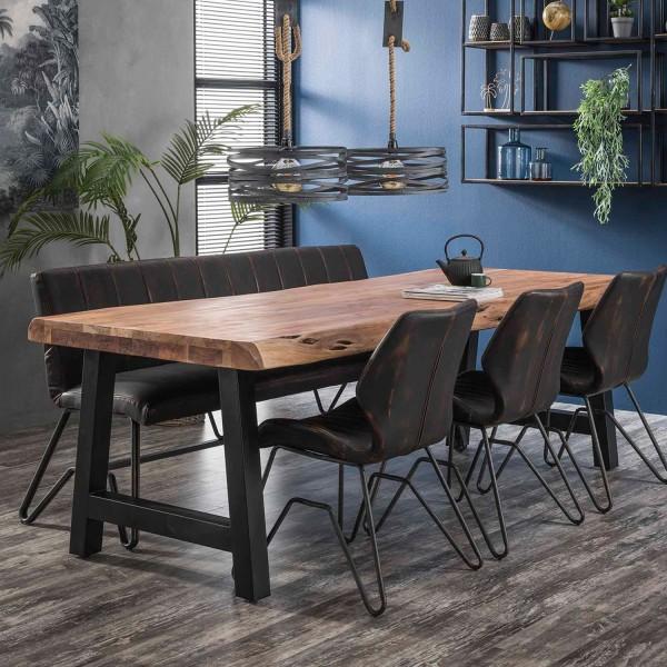 Esstisch Baumstamm 240 x 100 cm Akazienholz Baumkante